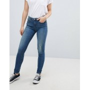 b.Young Skinny Distressed Jeans - Antique blue
