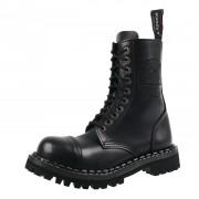 Unisex Lederstiefel Boots - STEADY´S - STE/10/H_Pentagram schwarz