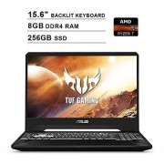 Asus 2020 TUF 15.6 Inch FHD IPS Gaming Laptop (AMD Ryzen 7 R7-3750H up to 4.0 GHz, 8GB RAM, 256GB SSD, NVIDIA GeForce GTX 1650, RGB Backlit Keyboard, Bluetooth, WiFi, HDMI, Windows 10)