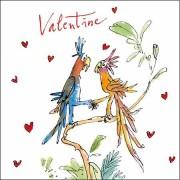 valentijnskaart Quentin Blake - valentine - papegaaien