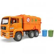 Kamion djubretarac MAN narandžasti 027605 Bruder