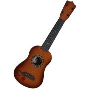 Emob 57CM long 4 Tight Tuneable String Big Size Musical Party Play Acoustic Guitar Toy For Kids With Adjustable Tuning Knobs (Brown)
