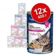 Feline Porta 21 бонус опаковка 12 x 400 г - риба тон с говеждо