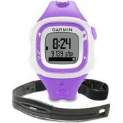 Ceas activity tracker Garmin Forerunner 15 HRM Bundle (Violet/Alb)