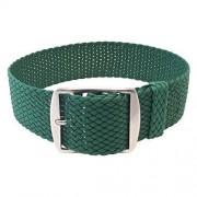 Wrist And Style Correa de reloj Perlon de muñeca y estilo (18 mm, verde)