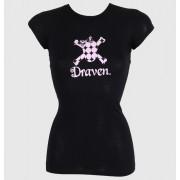 tricou de stradă femei - Polkaskull - DRAVEN - BLK