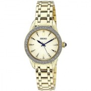 Seiko Analog Gold Round Women's Watch-SRZ386P1