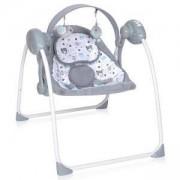Бебешка електрическа люлка Lorelli Portofino, сива, 0747039