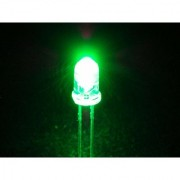 Invento 10 Pieces 5mm Green Color LED Light Bulb Lamp Light Emitting Diode DC 3V - 5V for DIY Projects