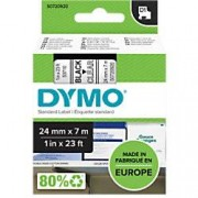 Dymo D1 Labelling Tape 53710 Black on Clear 24 mm x 7 m