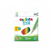 Set 24 creioane colorate hexagonale - Carioca