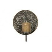 Pure BePureHome Glare flower kaarsenhouder metaal antique brass