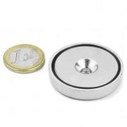 Magnet neodim oala cu gaura ingropata, Fi 40 mm, putere 52 kg