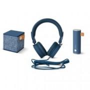 Комплект Fresh & Rebel Ruby Pack 8GIFT01IN, слушалки/външна батерия и безжична колонка, Bluetooth 4.0, 3000 mAh, microUSB, сини