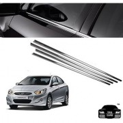 Trigcars Hyundai Verna Fluidic Car Window Lower Garnish Chrome