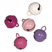 Rayher hobby materialen 5 Metalen belletjes roze mix 19 mm