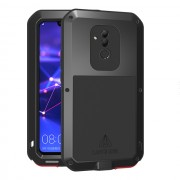 LOVE MEI Dust-proof Shock-proof Splash-proof Powerful Metal + Silicone Defender Case for Huawei Mate 20 Lite / Maimang 7 - Black