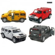 """Set of 4: 5"""" 2008 Hummer H2 SUV 1:40 Scale (Black/Red/White/Yellow)"""