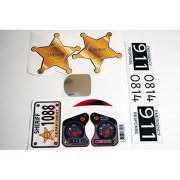 Replacement Decals Fits Little Tikes 30th Anniversary Cozy Coupe Sheriff Star Set