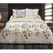 Lenjerie dubla Heinner Home bumbac 4 piese 144TC-INDIAN