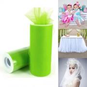 Fashion Tulle Roll 20D Polyester Wedding Birthday Decoration Decorative Crafts Supplies Size: 160cm x 25cm(Green)