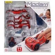 Modarri T1 Track Delux Single - Build Your Car Kit Toy Set - Multi Color Ultimate Toy Car Educational Gift Toy for Kids