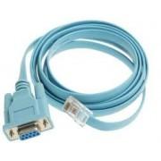 Console Cable 6ft with RJ45 and DB9F. - Cablu serial de consola administare routere si switchuri cisco
