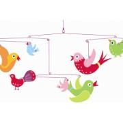 Decoratii mobile camera copilului cu pasari Djeco