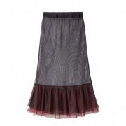 Tulen rok, zwart/rood 36/38