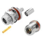 NTR CON65 N aljzat krimpelhető H-155 kábelre (dobozra rögzíthető)