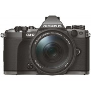 Aparat Foto Mirrorless Olympus E-M5 Mark II Pancake Zoom Kit, 16 MP, Filmare Full HD (Negru) + Obiectiv EZ-M1442EZ
