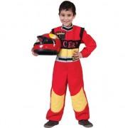 Geen Verkleedkleding auto coureur voor kinderen