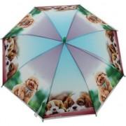 Geen Kinderparaplu honden print paars/blauw 96 cm - Action products