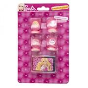 Set 4 stampile cu tusiera Barbie