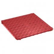 CLIPPY Kunststoff-Bodenrost, Polyethylen - 500 x 500 mm, stabil, VE 20 Stk - rot