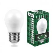 Лампа светодиодная Saffit SBG4507 G45 7W E27 4000K 55037