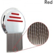 QD Red Stainless steel Lice Comb Very effective for Head Lice and Nit Remover Lice remover tool Hair care tool