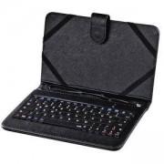 Универсален калъф с жична клавиатура HAMA 182500, 7 инча, OTG, черен, HAMA-182500