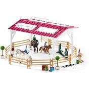 Schleich lovasiskola figurákkal és lovakkal