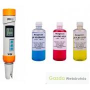 Profi pH mérő PH200 + 3x50ml kalibráló oldat