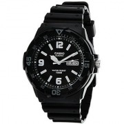 Casio Enticer Analog Black Dial Mens Watch - MRW-200H-1B2VDF (A594)