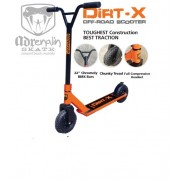 Adrenalin DIRT-X Off-ROAD Scooter ORANGE HEAVY DUTY Large WHEELS TREAD
