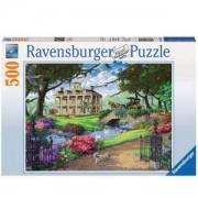 Пъзел 500 часта Посещение в имението, Ravensburger Visiting the Mansion, 7014690