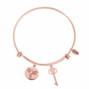 CO88 Armband Libelle-Sleutel' staal/rosékleurig, all-size 8CB-10009