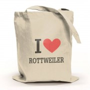 I Love Rottweiler Tygpåse
