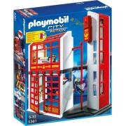 Playmobil Klocki konstrukcyjne Kwatera straży pożarnej z alarmem 5361
