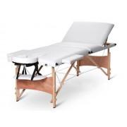 Masa masaj plianta - 3 sectiuni Lemn Alb