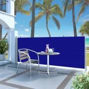 vidaXL Toldo lateral retrátil 120x300 cm azul