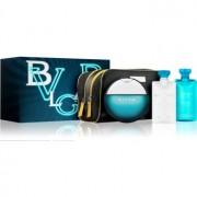 Bvlgari AQVA Pour Homme lote de regalo XVII. eau de toilette 100 ml + gel de ducha 75 ml + bálsamo after shave 75 ml + bolsa para cosméticos