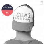 CA-RIO-CA Posto 12 Trucker Hat Navy Blue/Red CRC-H1040